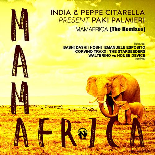 "INDIA & PEPPE CITARELLA pres. PAKI PALMIERI  ""Mamafrica (The Remixes)"""
